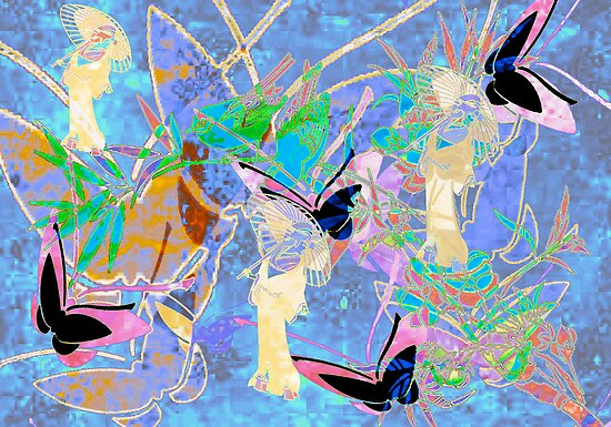 Birds, Womens & Butterflies. Japanese Series8. by Vitta