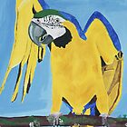 The blue and gold Macaw by Rebecca Lee Means