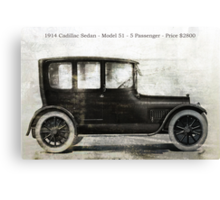 1914 Cadillac Sedan Canvas Print