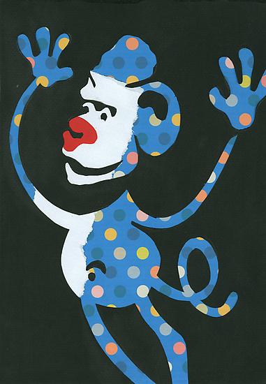 Blue Monkey by Sanne Thijs