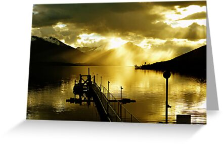 Sunset at Lake Te Anau. South Island, New Zealand.  by Ralph de Zilva