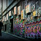 morning commute on Hosier lane by Rosemary Scott