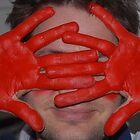 red hands by Ingrid Merrett