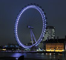 London Eye at Night by Dhruba Tamuli