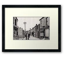 134 - RHOSLLANERCHRUGOG HIGH STREET, NORTH WALES (INK) 1987 Framed Print