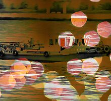 Autumn in Japan:  Business on the Sumida by Jen Waltmon