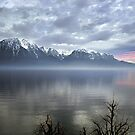 Mountain Lake at Dusk by billyboy