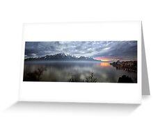 Mountain Lake at Dusk Greeting Card