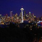 Seattle skyline after dark by Klaus Girk