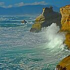 Wave Action At Cape Kiwanda by Nick Boren