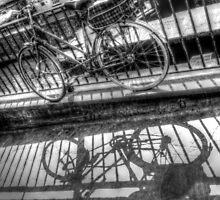 Two Bikes One Shadow - Camden Lock Village by Victoria limerick