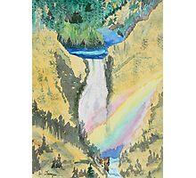 Lower Falls Rainbow Photographic Print