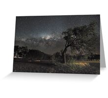 Galactic View from Planet Earth Greeting Card