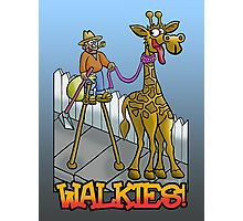 """Giraffe walkies"" Photographic Print"