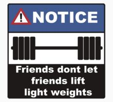 Friends Dont Let Friends Lift Light Weights by AndrewD