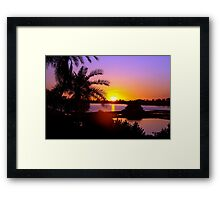 Sun's goodnight kiss Framed Print