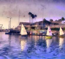 Sabot Sailing Long Beach, CA. by Joni  Rae