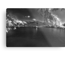 swiss alpine lake Metal Print