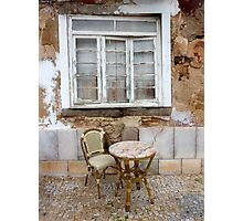 Table for one Photographic Print