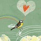 Valentine's bird by stibou
