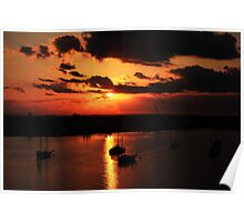 Sunrise over San Carlos Island Poster