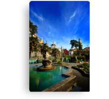 Fountain at Portmerion Canvas Print