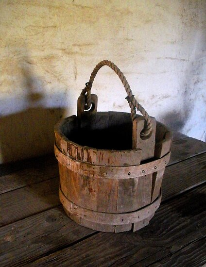 old water bucket by waddleudo redbubble