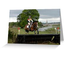 Tricia Hynd on Bill at Floors' Castle Eventing 2011 Greeting Card