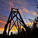 Hill End sunset by Geraldine Lefoe