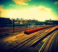 empty train yard by ShellyKay