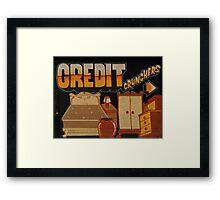 Credit Crunchers! Framed Print