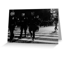 one city... 34,000 cops Greeting Card