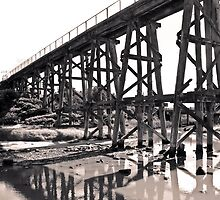 Bridge - Kilcunda East Beach 2 by Melissa Dickson