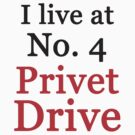 I live at No. 4 Privet Drive by meldevere