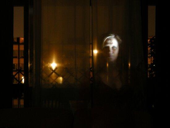 ghost im window by KERES Jasminka