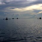 Prawn Boats under anchor (Cape York) by Scott Schrapel
