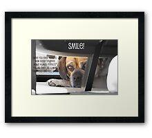 Smile :) Framed Print