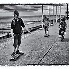 Skateboarding on Southend Seafront by Peter Tachauer