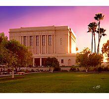Mesa Arizona Temple Desert Sunset 20x24 Photographic Print