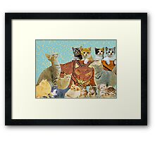 Cute Cat collage 2 Framed Print