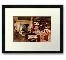 Canons Ashby House The Book Room Framed Print