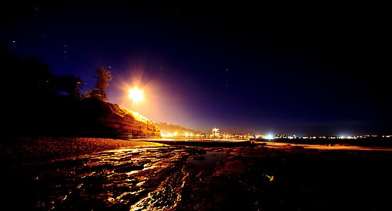Collaroy pool at night by Doug Cliff