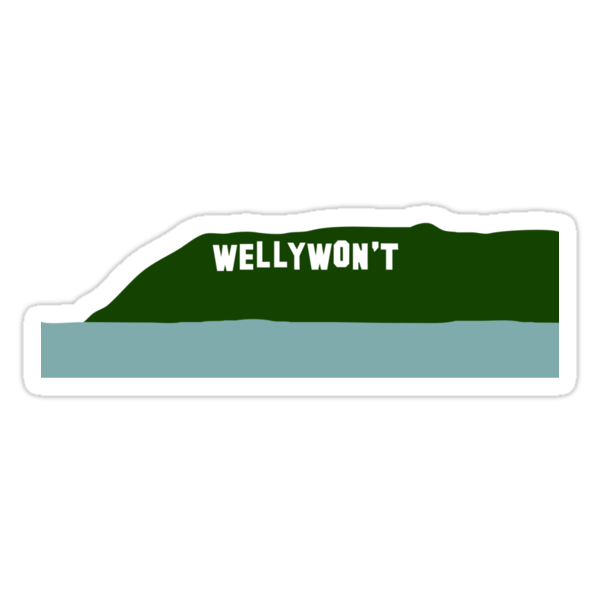 Wellywon't hill (Wellywood sign) by jezkemp