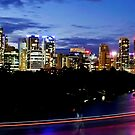Brisbane Skyline Panorama by Rob Williams