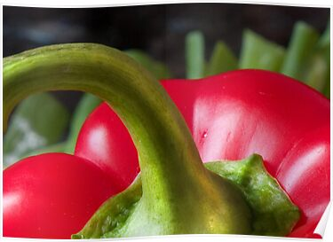 Red Pepper Abstract 3 by Orla Cahill Photography