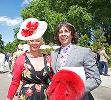 Laurence Llewelyn Bowen with his wife by Keith Larby