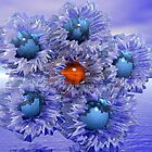 Imagine A Garden of Diamond Turquoise Flowers by Georgia Wild
