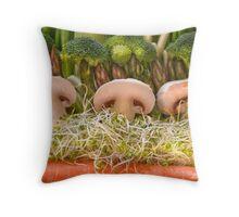 Fun Vegetable Landscape no.4 Throw Pillow