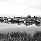 Boats Moored at Barton Marina by Rod Johnson