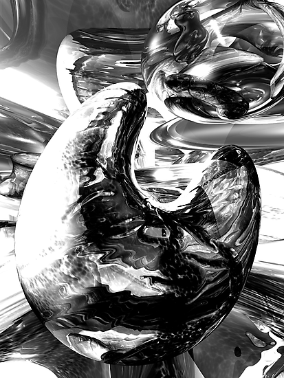 Dipped in Chrome Abstract by Alexander Butler